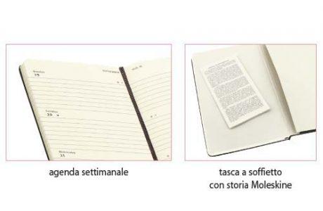 Agenda Moleskine personalizzabile_settimanale piccola