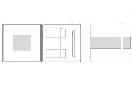 Moleskine writing set personalizzabile aree di personalizzazione