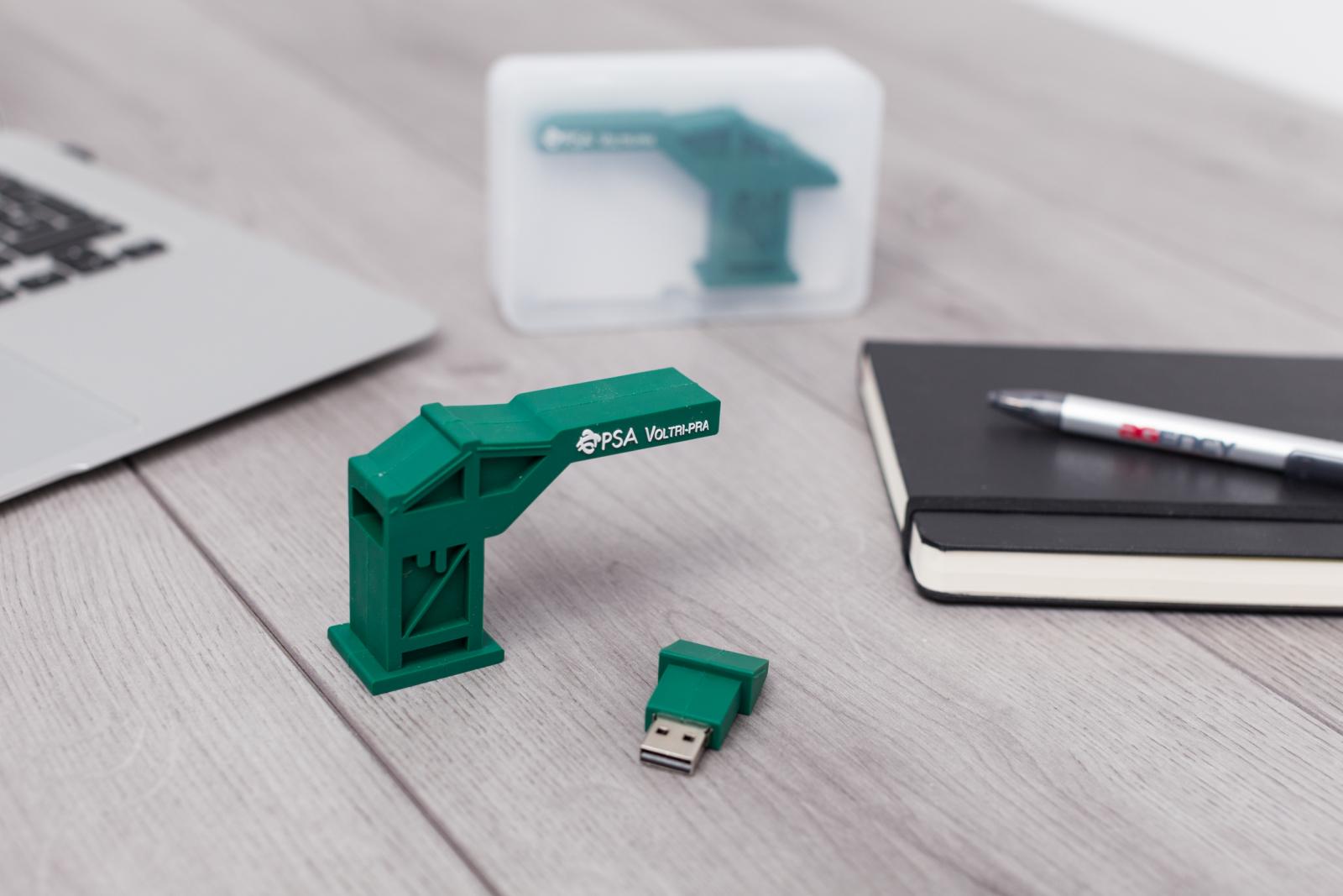 chiavetta USB 3D relizzata su progetto