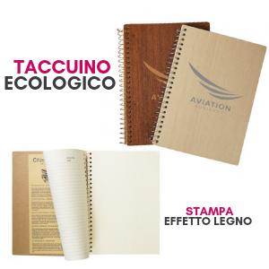 Taccuino personalizzabile con logo ecologico