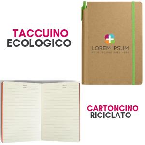 Taccuino personalizzato con logo ecologico