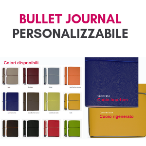 Taccuino Bullet Journal personalizzabile con logo