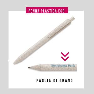 penna personalizzata ecologica in paglia di grano