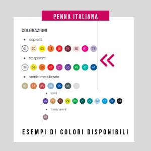 penna personalizzata colori disponibil
