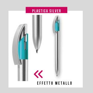 Penna personalizzata effetto silver
