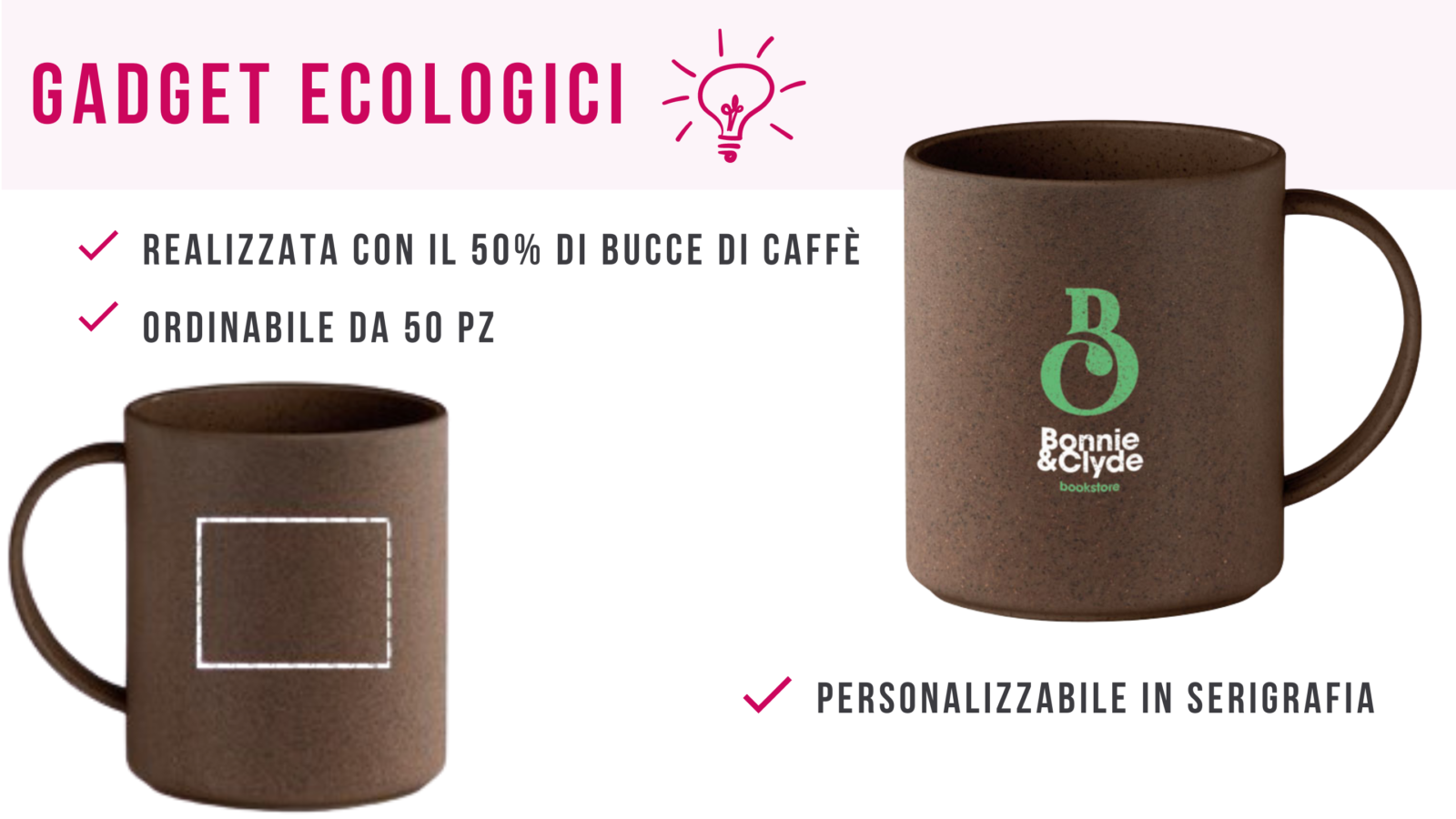 Gadget eco friendly_ mug da biccie di caffè personalizzabile