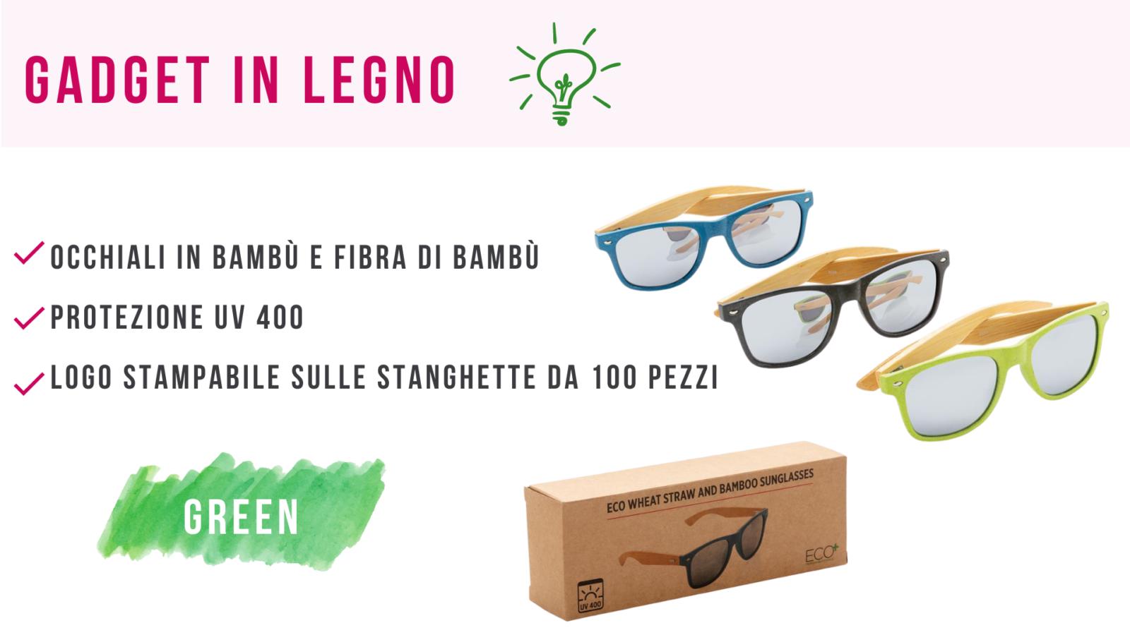 gadget in legno occhiali