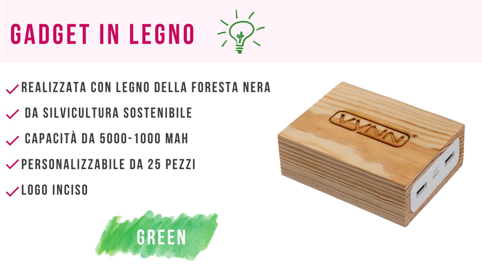 gadget green ecologici in legno