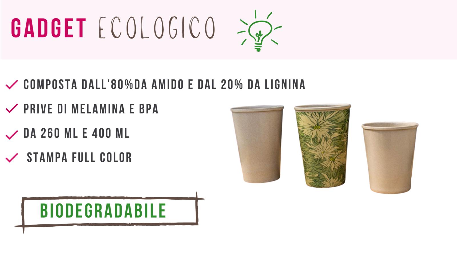 Gadget biodegradabili e compostabili