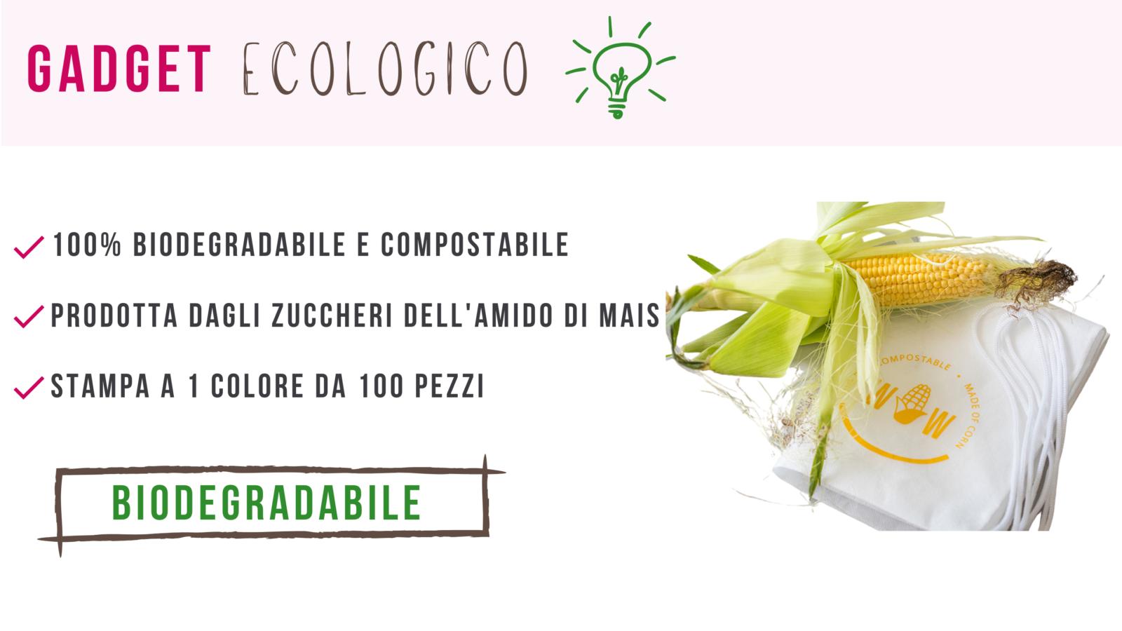 gadget ecosostenibile biodedradabile