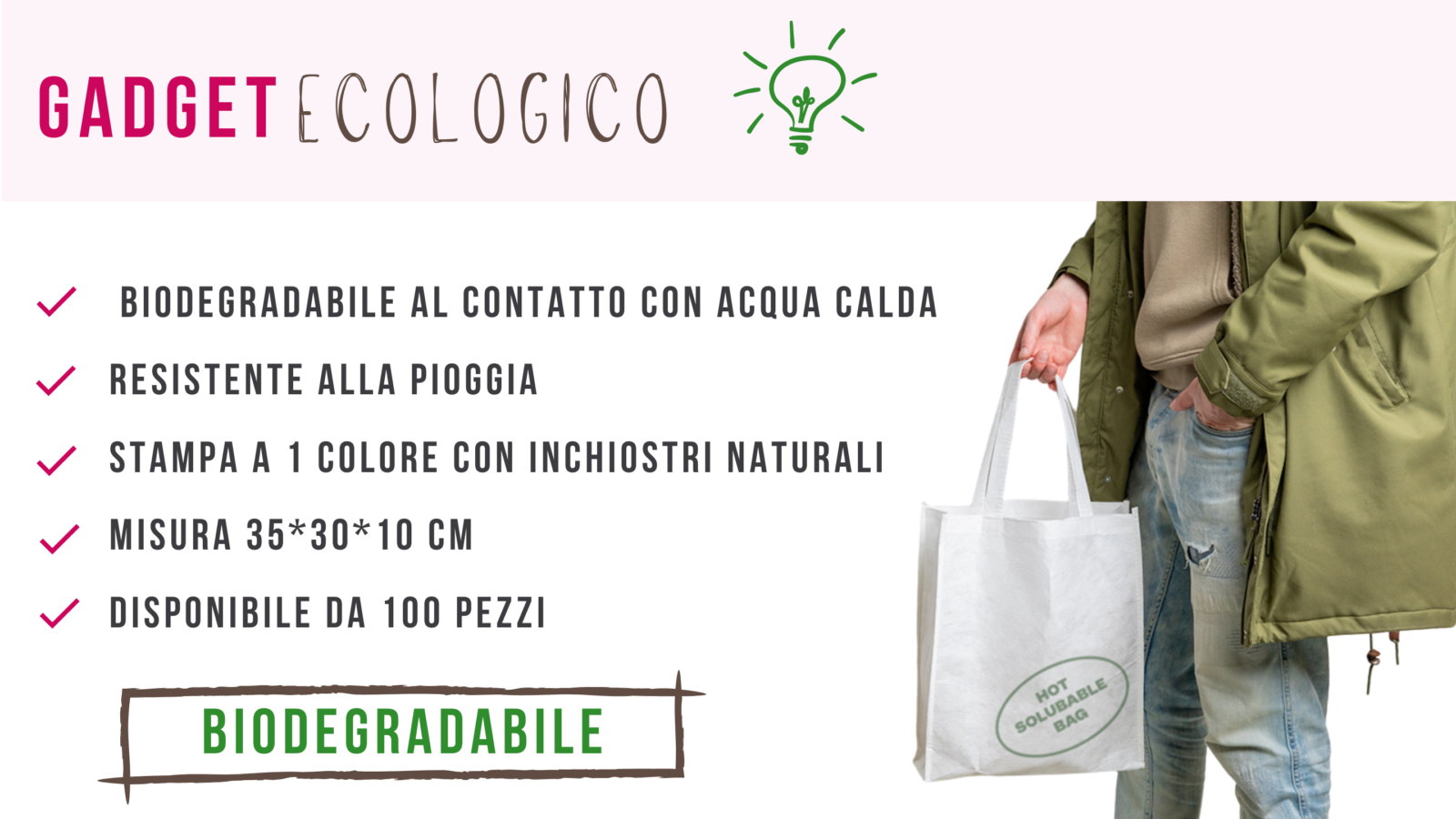 Shopper biodegradabile con logo
