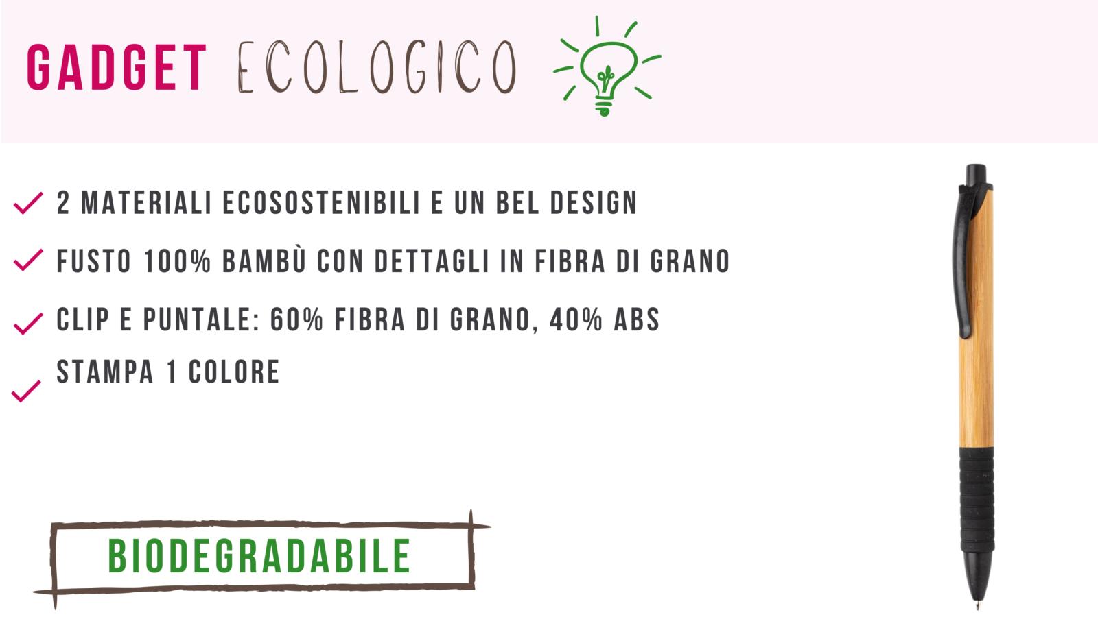 penna ecologica con logo