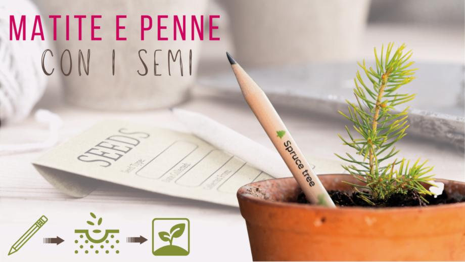 matite ecologiche con semi