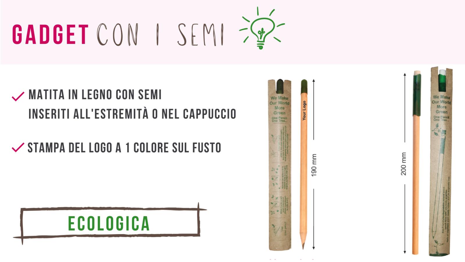 matita ecologica con semi tipo sprout