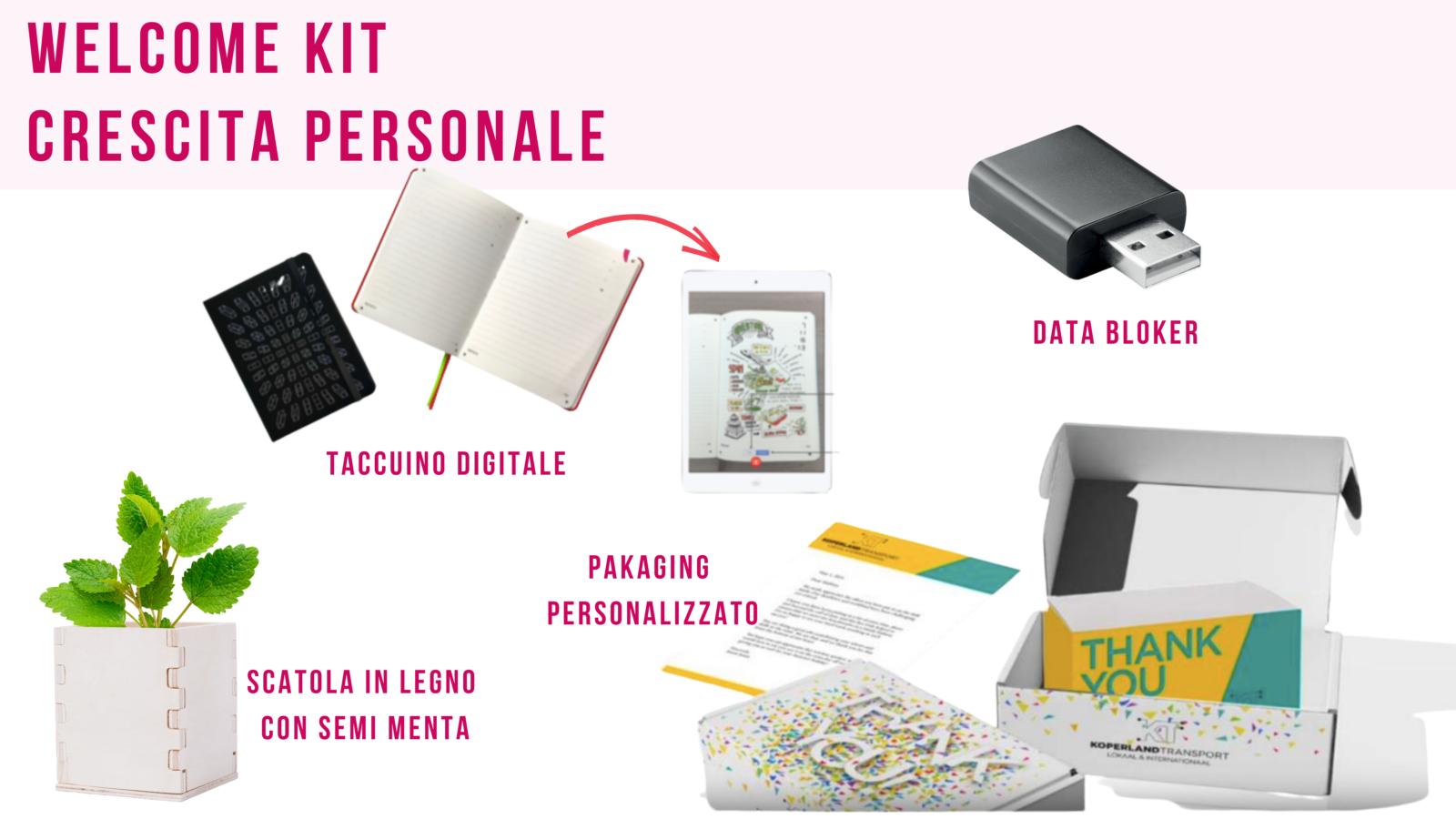 Welcome kit aziendali personalizzati
